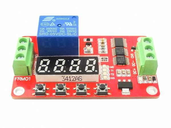 12V DC Multifunktions Selbst-lock Relais PLC Zyklus Verzögerung Zeit Timer Schalter Modul PLC Home A