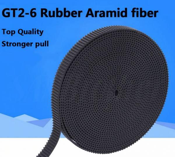 GT2 Zahnriemen Aramid Faser verstärkt 6mm/1m