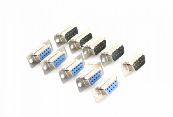 9 Pin D-SUB Typ DB9-Stecker zum Löten 5 x Mänlich 5x Weiblich