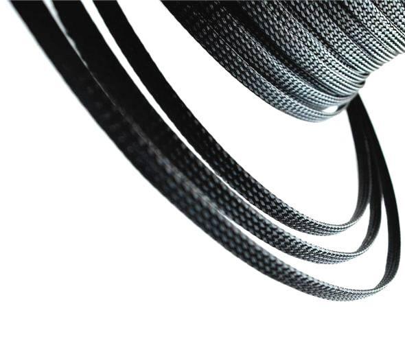 Nylongeflecht Draht Schutz Schwarz PET 8 mm Länge 1 Meter