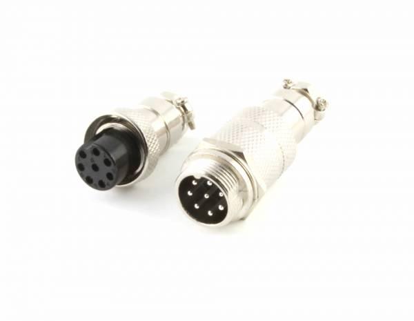 8-Pin Stecker & Female Aviation Stecker Steckverbinder GX16 Rundsteckverbinder, Durchmesser 16 mm