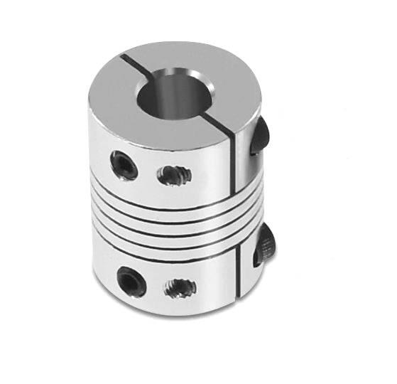 Flexible Wellenkupplung 8mm/5mm klemm Verschraubung Länge 25mm