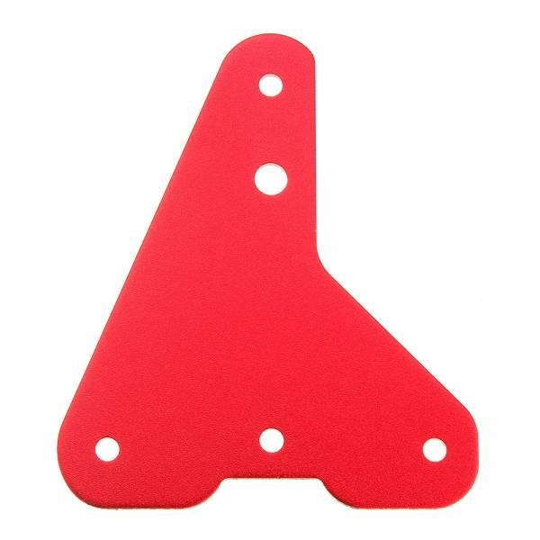 Z Achse 2,5mm Aluminium Platte Für CR-10S Pro rechts vorne 3D Drucker Rot Eloxirt