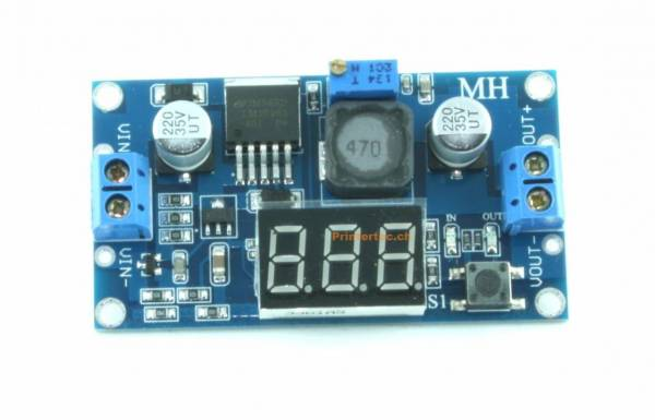 Step-Down Power Module DC 4,0 ~ 40 zu 1,3-37 V einstellbar + LED Voltmeter mit LM 2596