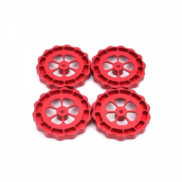 Nivellierung Mutter M4 Rot Aluminium Für Creality CR-10 4 Stück