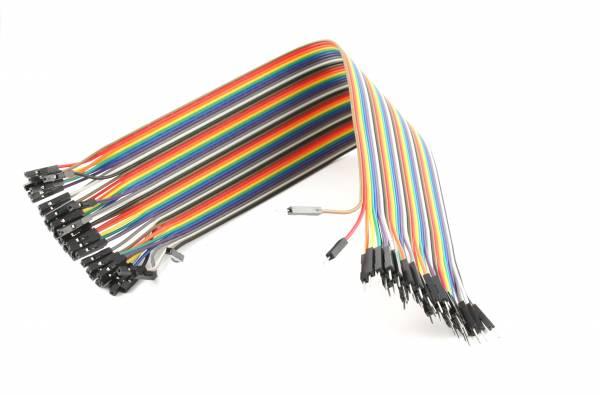 Jumper Kabel Dupont Kabel 30 CM 40 Teile 1pin zu 1 pin männlich weiblich