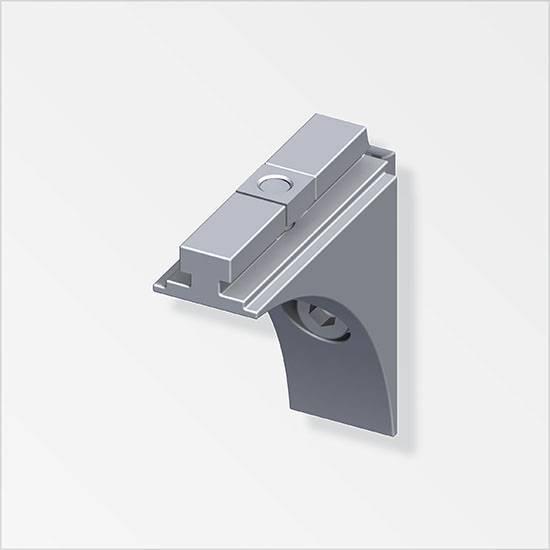 coaxis® Verbindungswinkel Aluminium, kugelpoliert